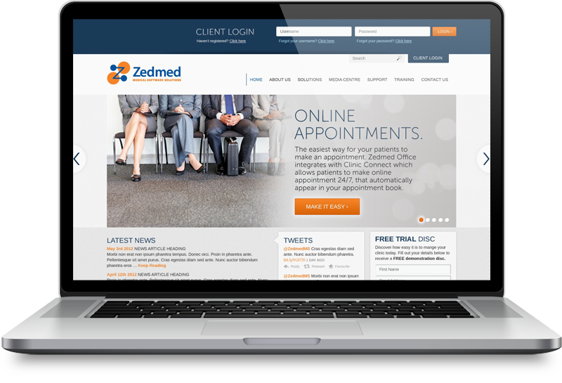 Zedmed Website Design